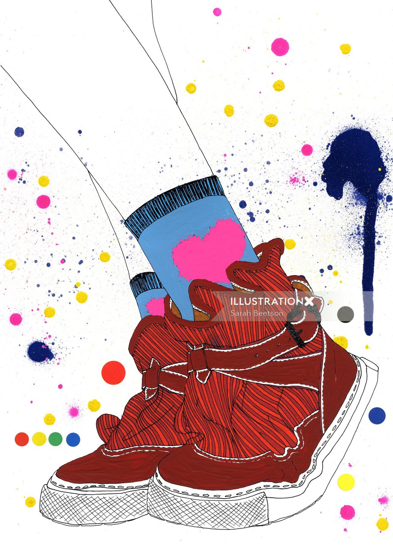 Colorful graphic fashion-illustration