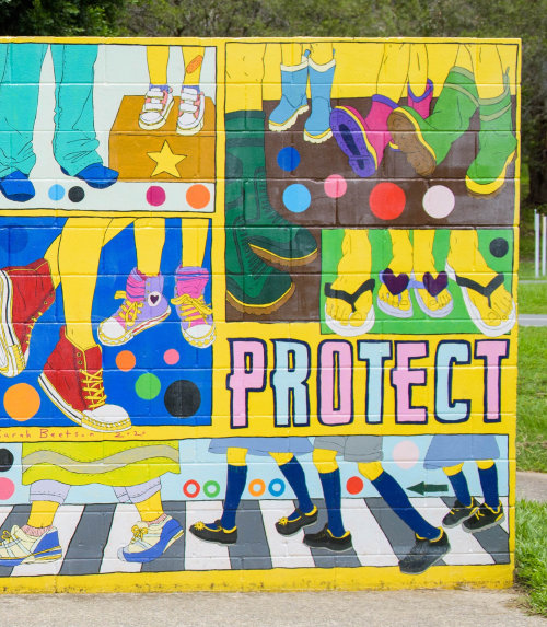 Protect Street art mural