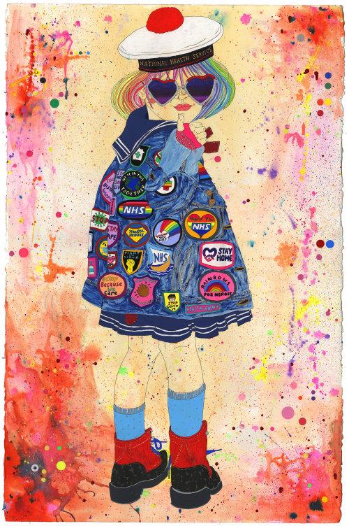 Ilustração de moda para heróis cobiçosos