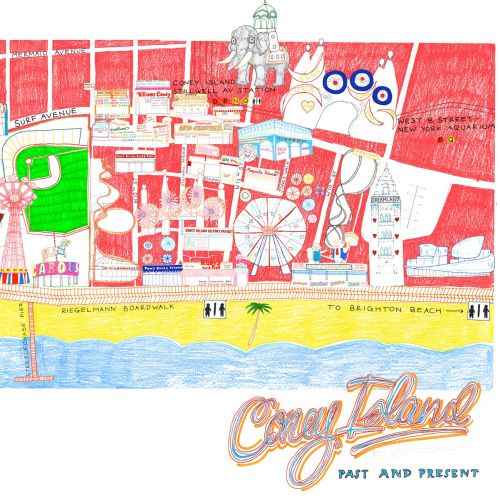 Coney Island map illustration
