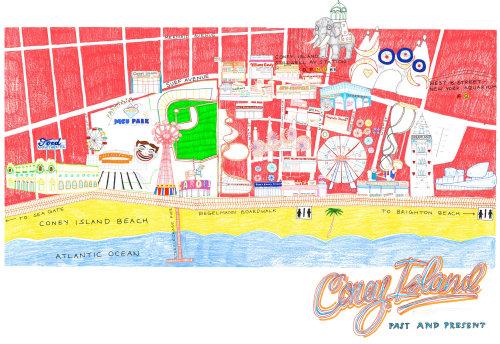 Ilustração do mapa de Coney Island