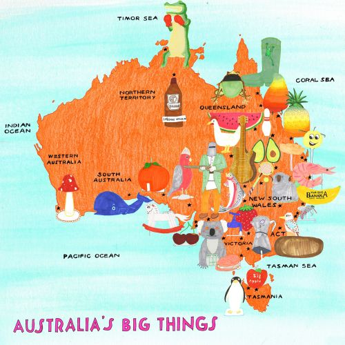 Maps Australias big things