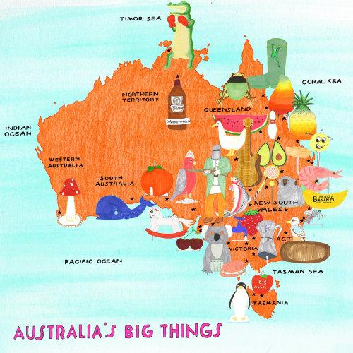 Mapas da Austrália grandes coisas