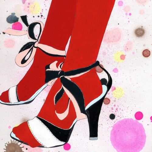 Ladies heels footwear illustration by Sarah Beetson