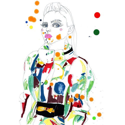 Fashion illustration and design in-house at Yellowdoor magazine by Sarah Beetson