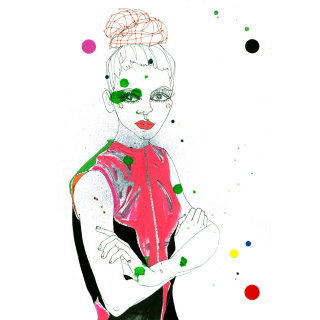 Lady model illustration by Sarah Beetson