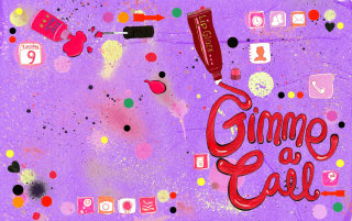 Illustration for gimme a call book jacket cover by Sarah Beetson