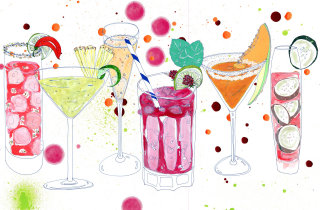 beverage illustration by Sarah Beetson