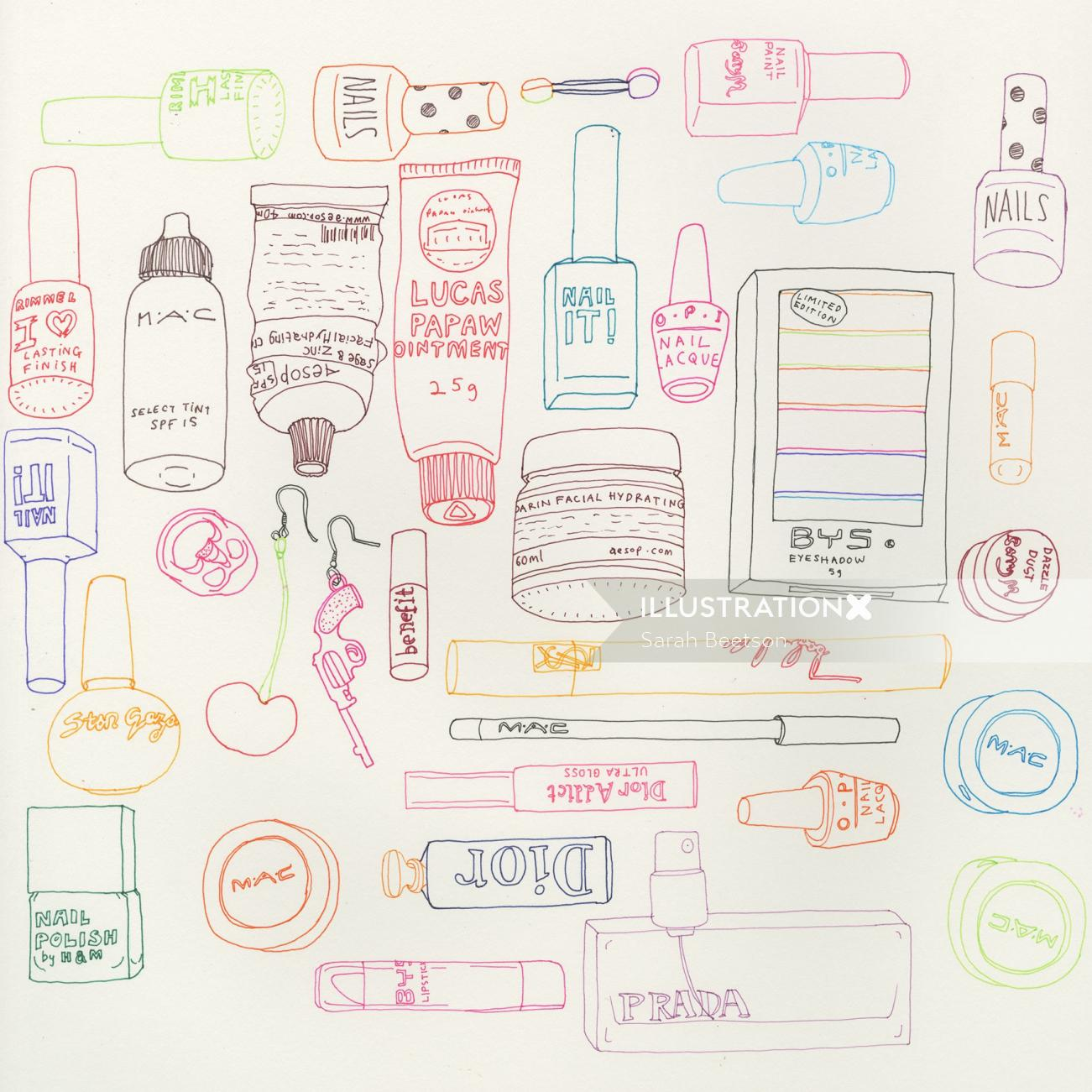 An illustration of Makeup icons