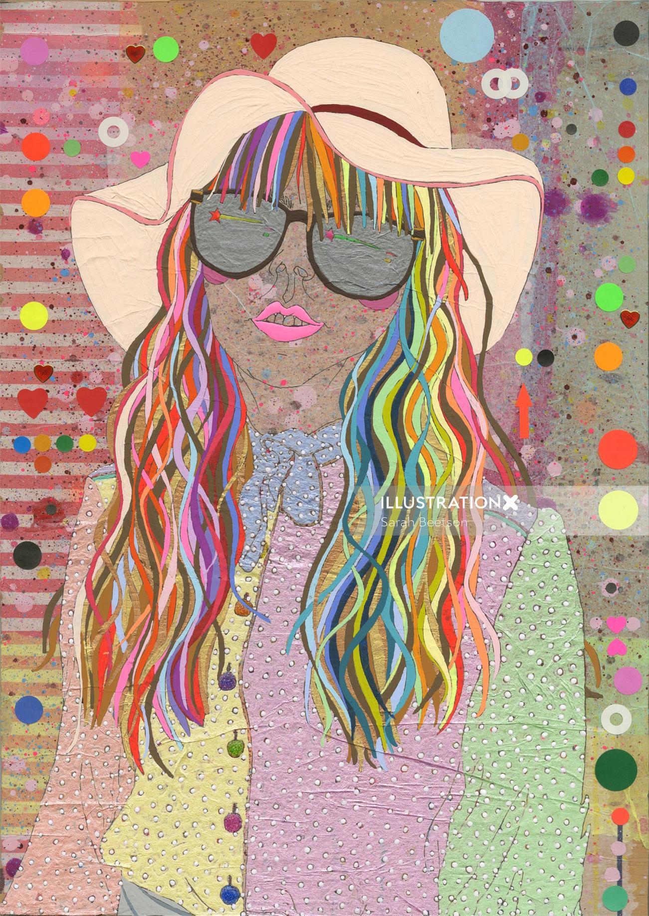 Fashion woman - Illustration by Sarah Beetson