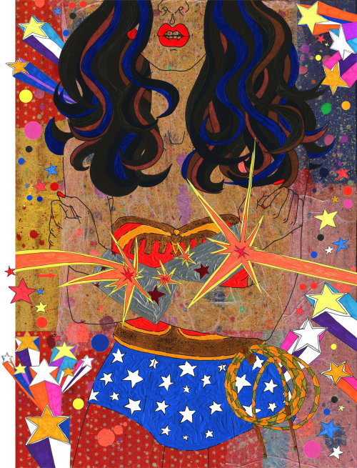 Illustration of a wonder woman by Sarah Beetson
