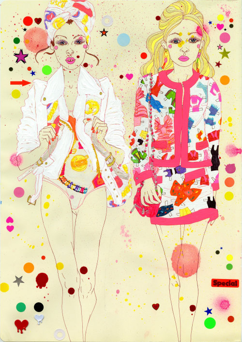 Women fashion illustration by Sarah Beetson