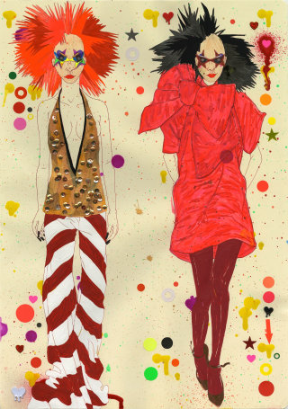An illustration of Gareth Pugh
