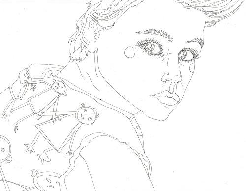 Uma ilustração de Corey Haim