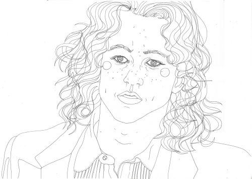 Uma ilustração de Heath Ledger