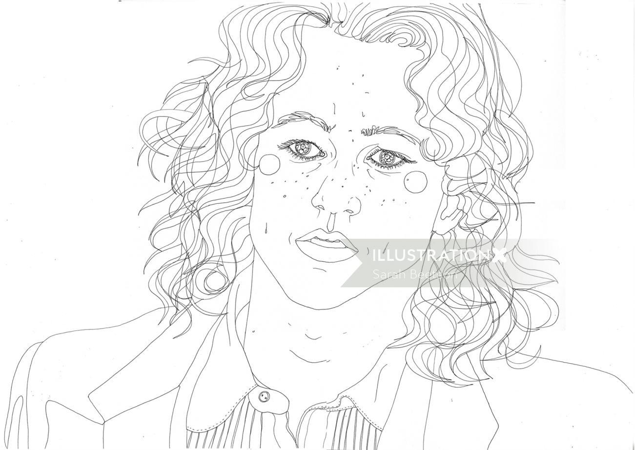 An illustration of Heath Ledger