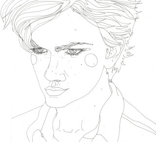 An illustration of River Phoenix