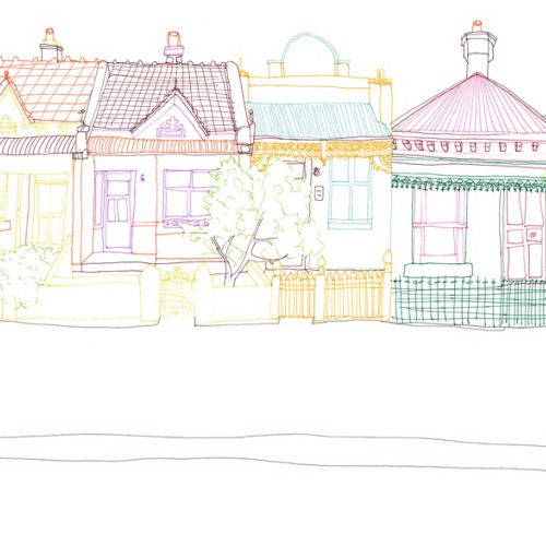 Melbourne houses illustration by Sarah Beetson