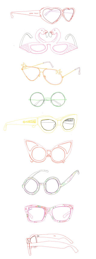 An illustration of summer sunglasses