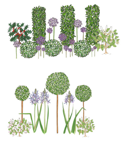 Illustration of artificial flower