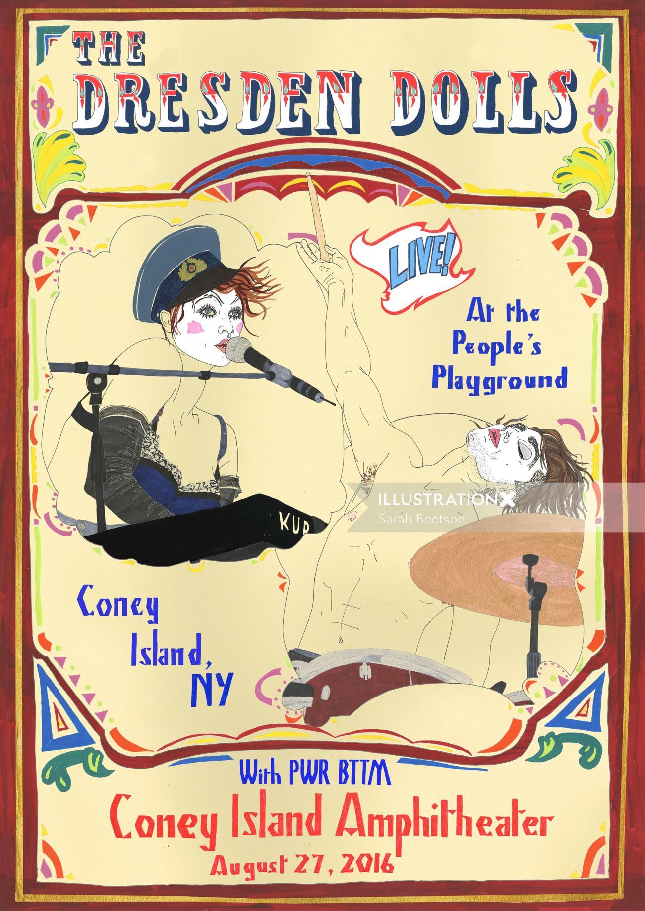 An illustration of the Dresden Dolls