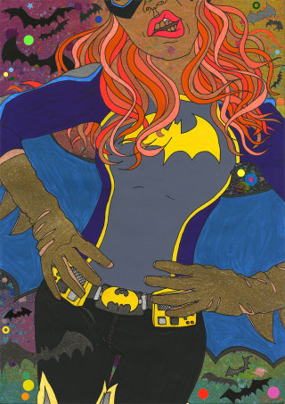 An illustration of a Bat girl
