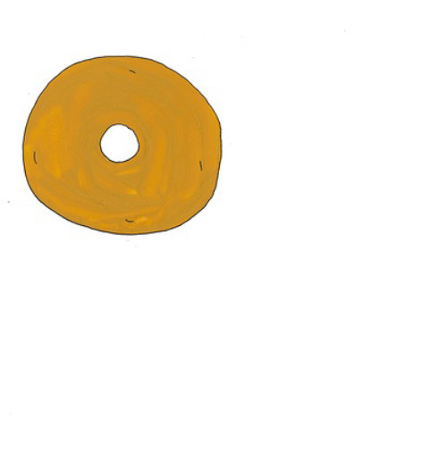 Animação de ilustração de donuts