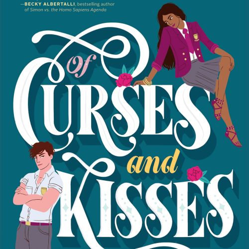 Of Curses And kisses lettering illustration