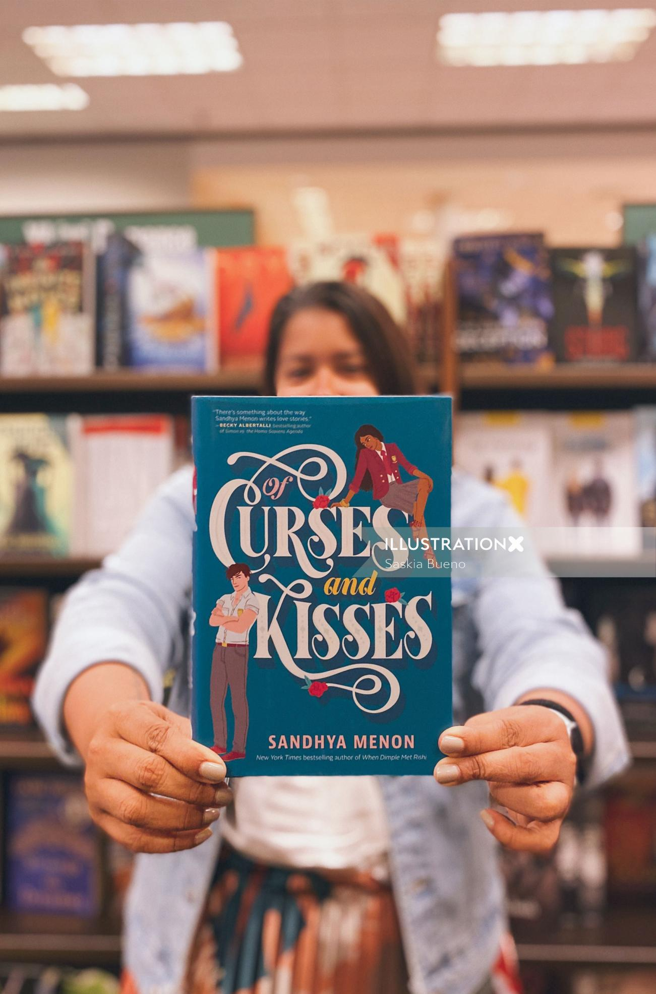 Book cover illustration of Of Curses And kisses