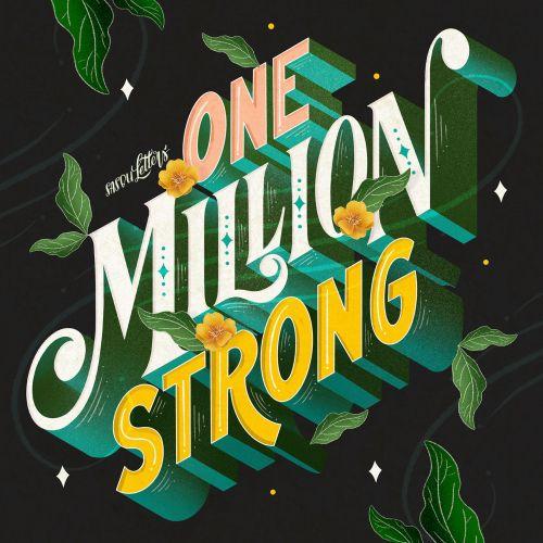 Lettering art of one million strong