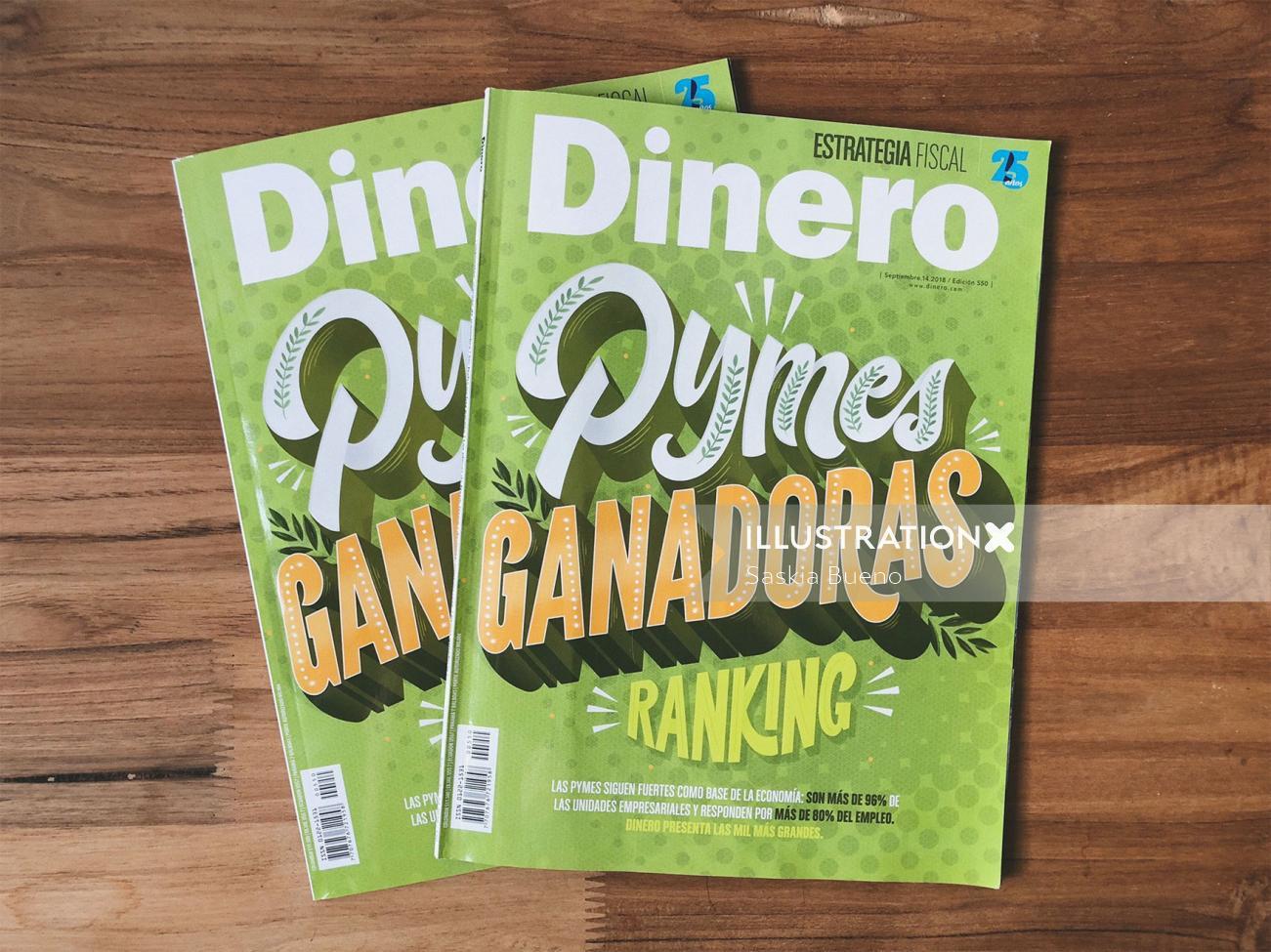 Dinero book cover illustration
