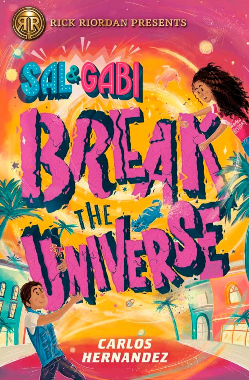 Ilustração de letras de Sal e Gabi Break the Universe