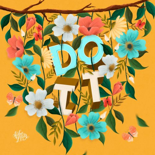 Inspiration typography art of Do It