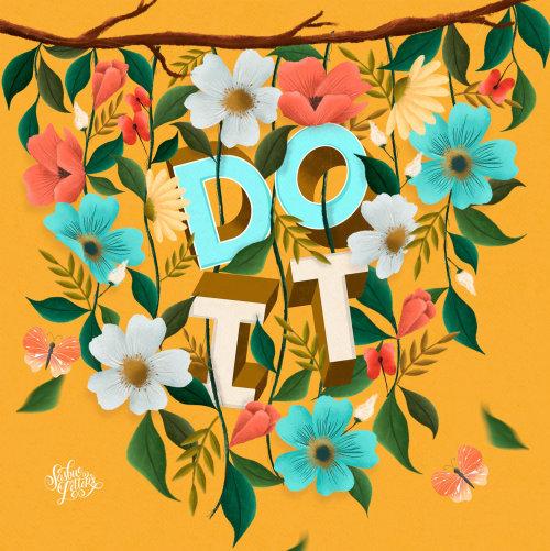 Arte tipográfica de inspiração de Do It