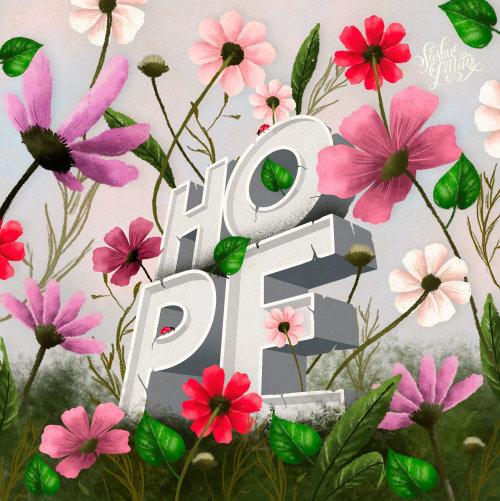 Letras de arte de onde há vida há esperança