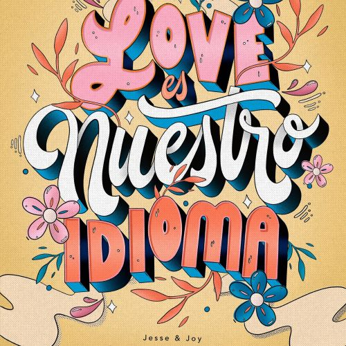 Love Nuestro Idioma lettering illustration