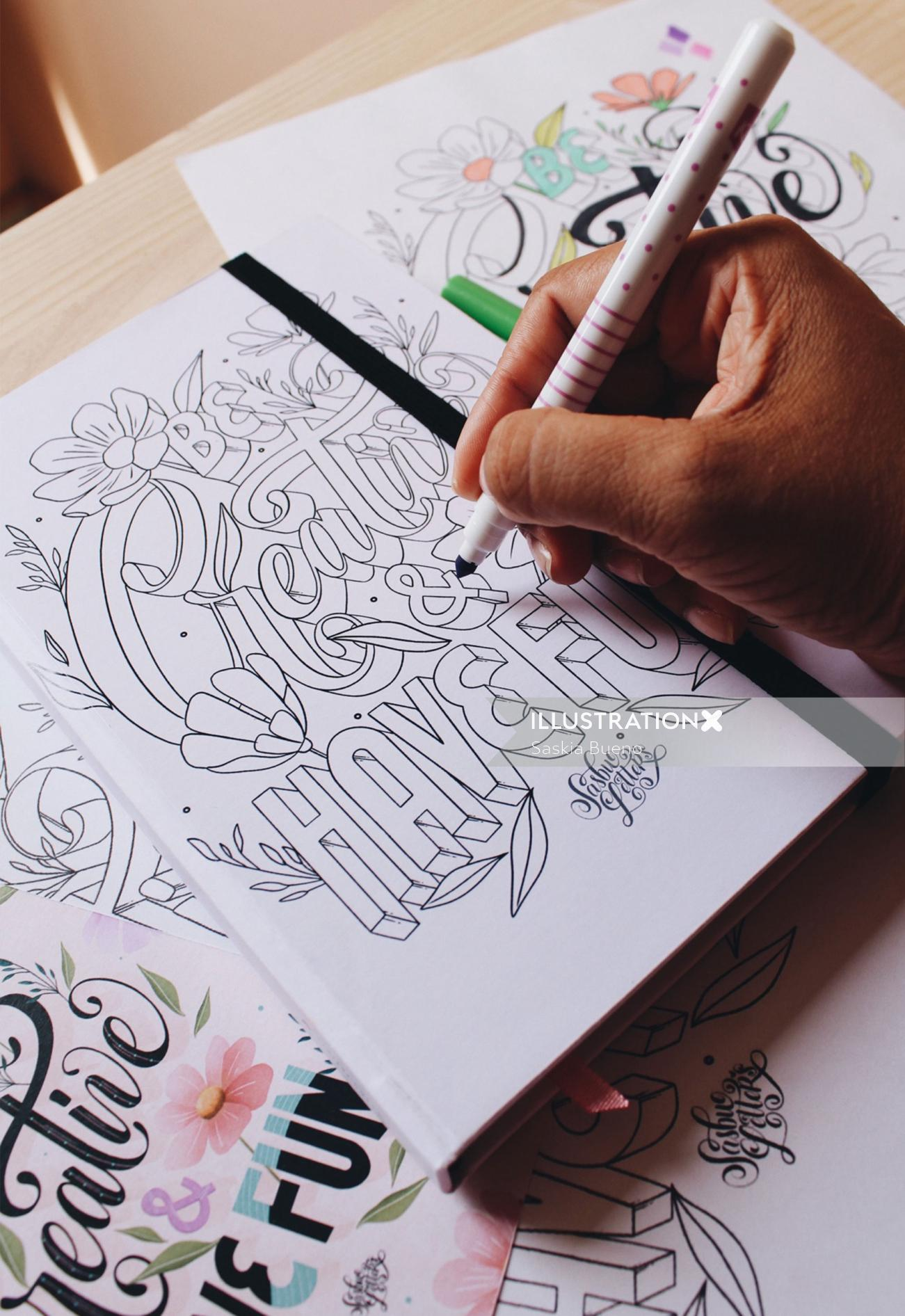 Be Creative & Have Fun hand-lettering