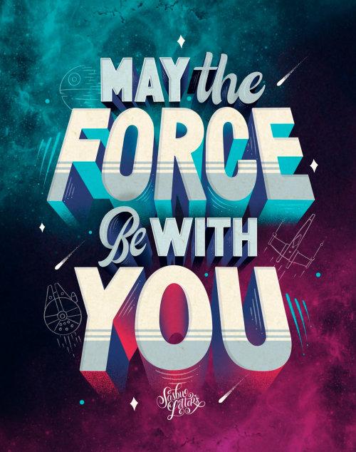 Letras de arte de que a força esteja com você