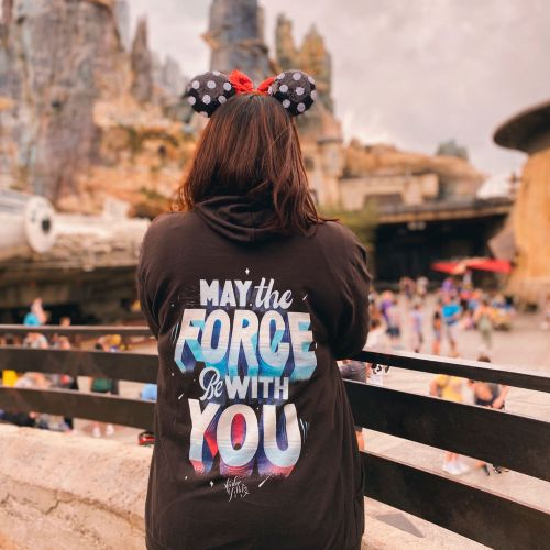 May the force be with you t-shirt illustration