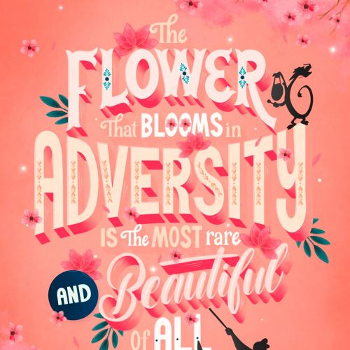 Lettering art of  Flower That Blooms In Adversity