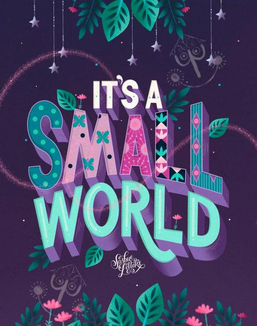 Arte tipográfica de seu pequeno mundo