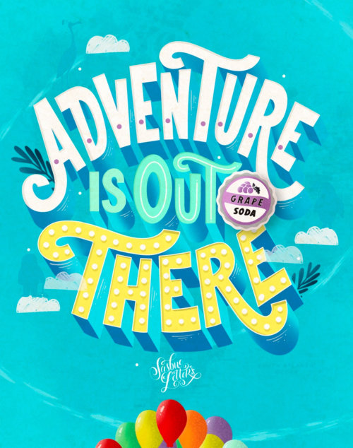 Projeto de caligrafia de Adventure Is Out There