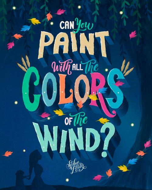 Letras de arte de você pode pintar com todas as cores