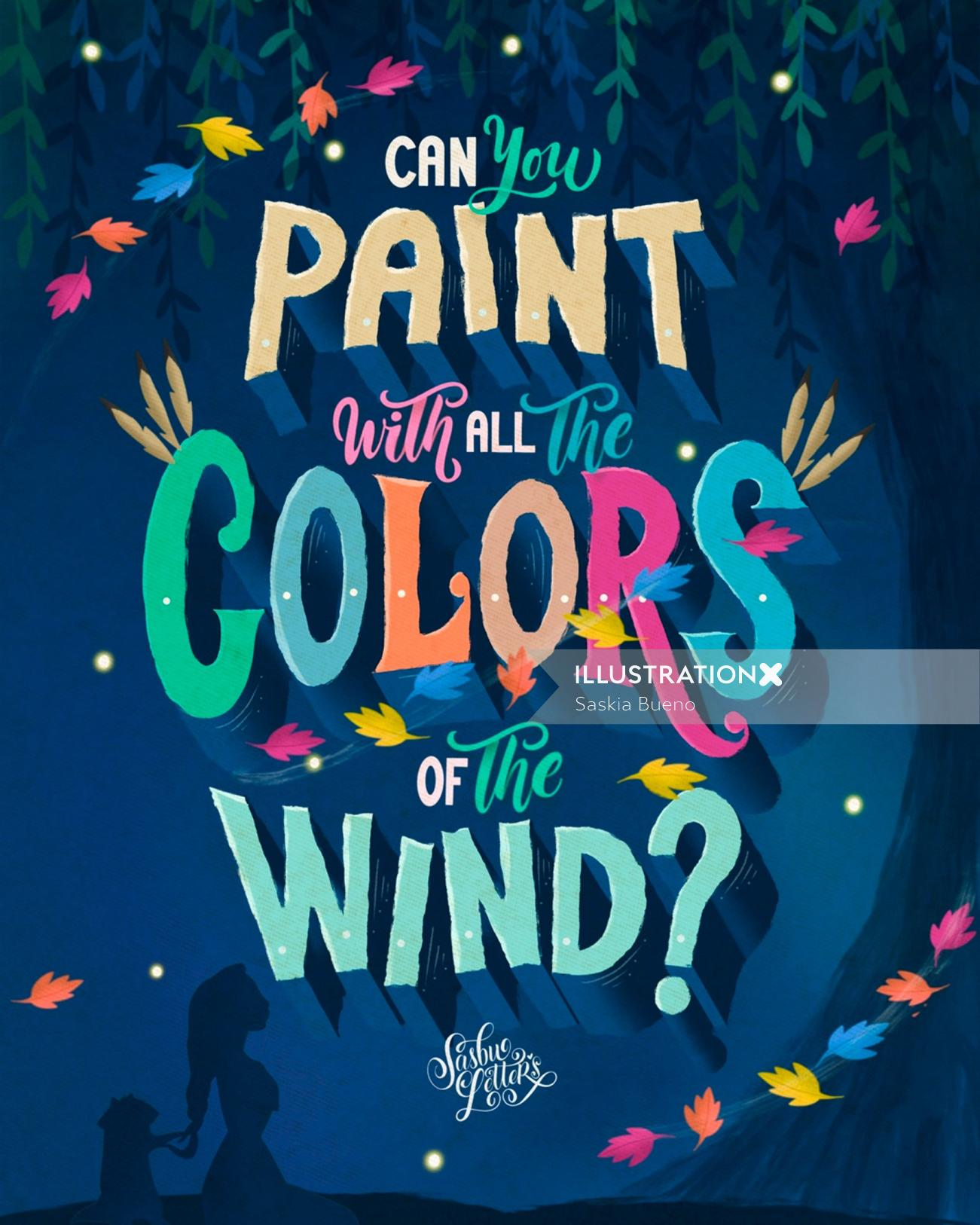 Lettering art of can you paint with all color