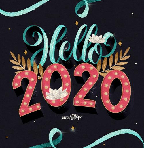 Tipografia de Olá 2020
