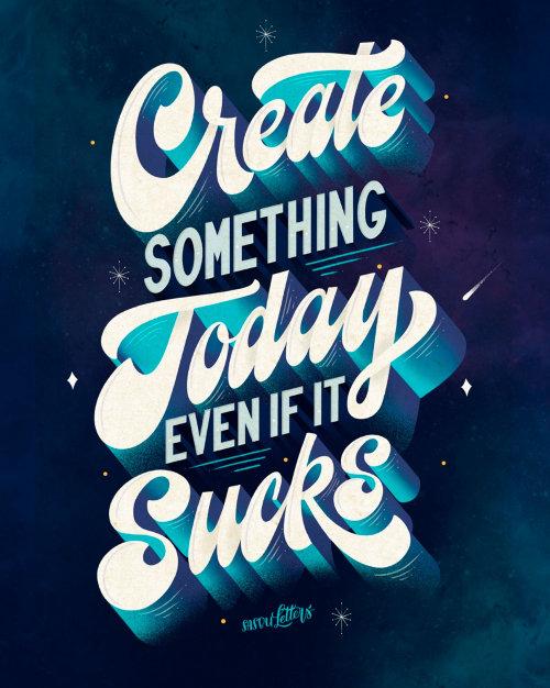 创造今天的东西,即使很烂