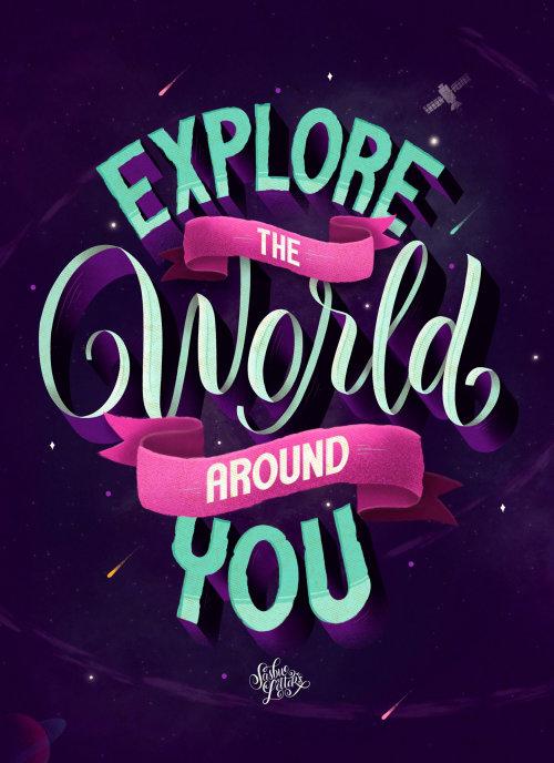 Explore o mundo ao seu redor