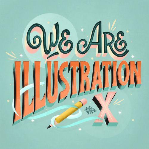 Hand lettering illustration of we are IllusrationX