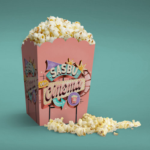Popcorn Box digital painting