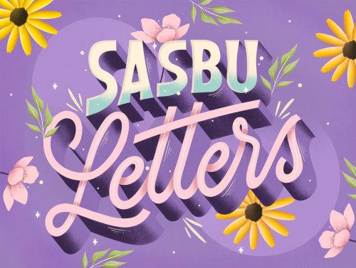 Desenho de caligrafia de letras Sasbu